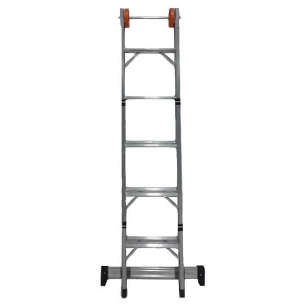 Escada de Alumínio 5 Degraus 2x2,63m Ágata Extensiva - ENE 005