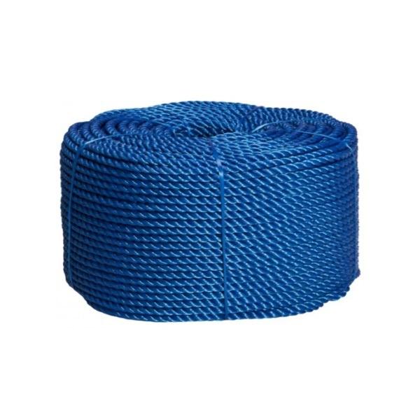 Corda Nylon Torcida 8mm Azul Rolo 220 Mts 7,5kg Aprox