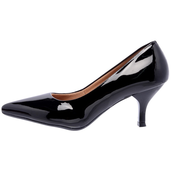 SCARPIN FACTOR FASHION SALTO BAIXO - PRETO