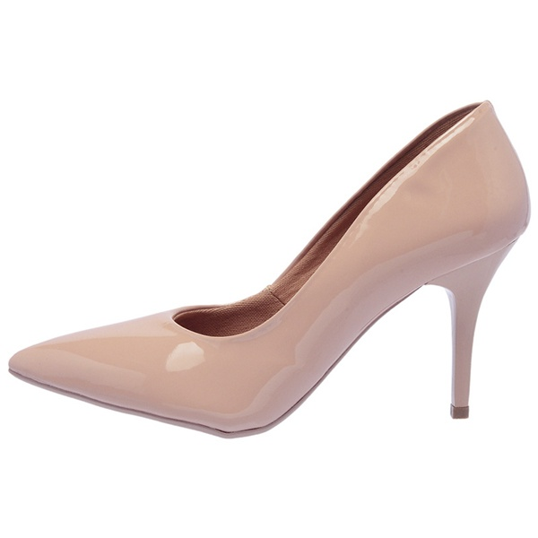 SCARPIN FACTOR FASHION SALTO MEDIO- NUDE