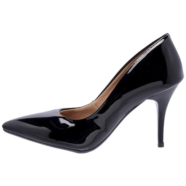 SCARPIN FACTOR FASHION SALTO MEDIO- PRETO