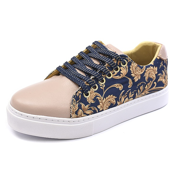 Casual Feminino Shoes grand 9620/2 Floral Nude
