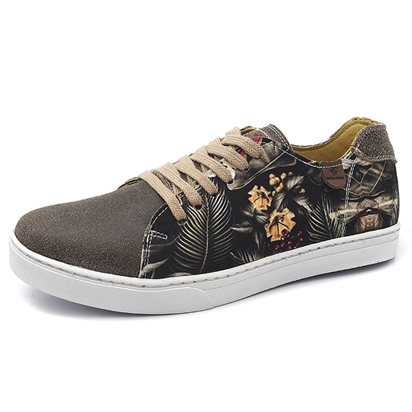 Casual Masculino Shoes Grand 1141/3 Floral Tropical Café
