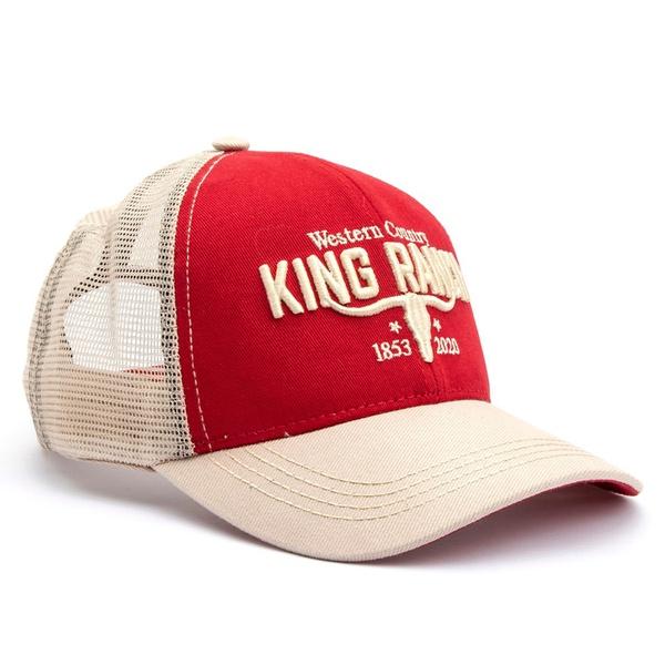 Boné King Ranch 1725 Vermelho/Branco