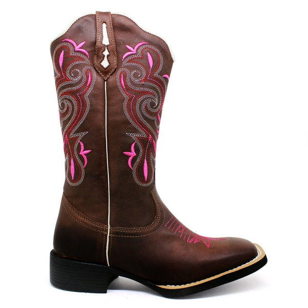 Bota Texana Feminina Marconi 7789 Crazy Horse Café