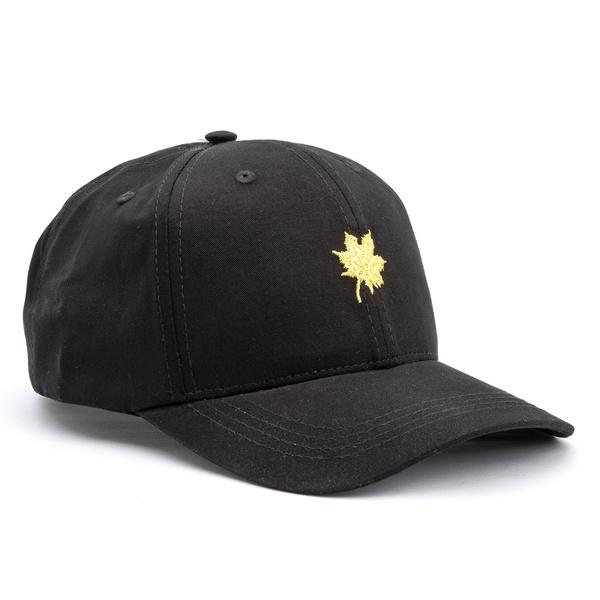 Boné Folha Canadian Preto/ Amarelo