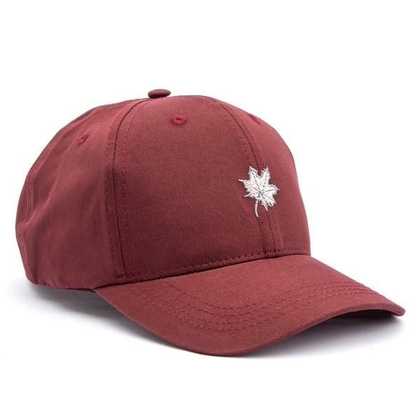 Boné Folha Canadian Bordô/ Cinza