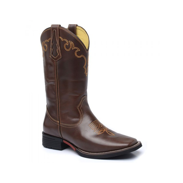 Bota Texana Masculina Fidalgo 49211 Pull-Up Brown