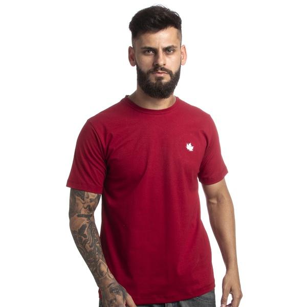 Camiseta Básica Canadian Algodão 0111 Bordô