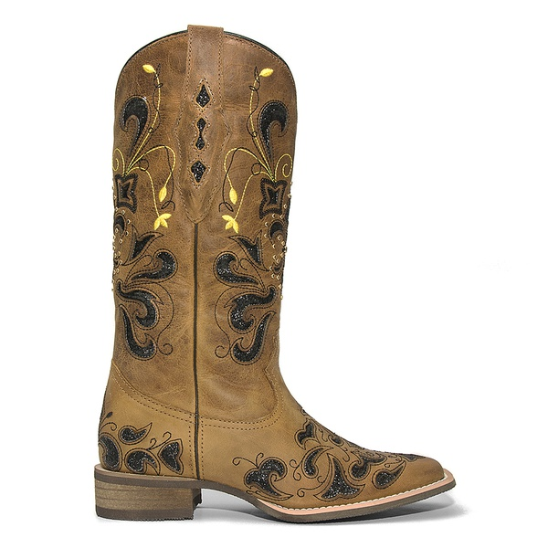 Bota Western Feminina Vimar Boots 13104 Fossil Caramelo