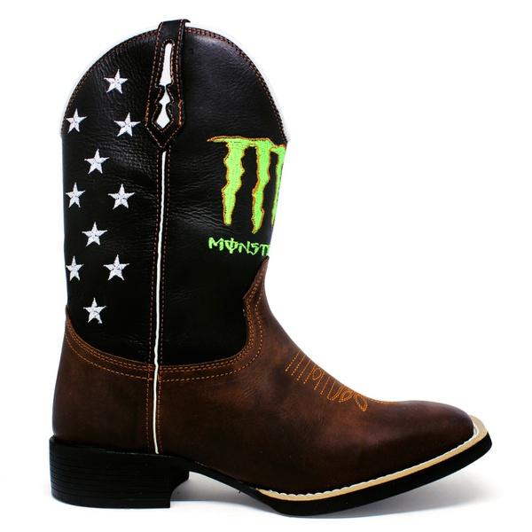 Bota Texana Masculina Marconi 7433 Crazy Horse Amendoa