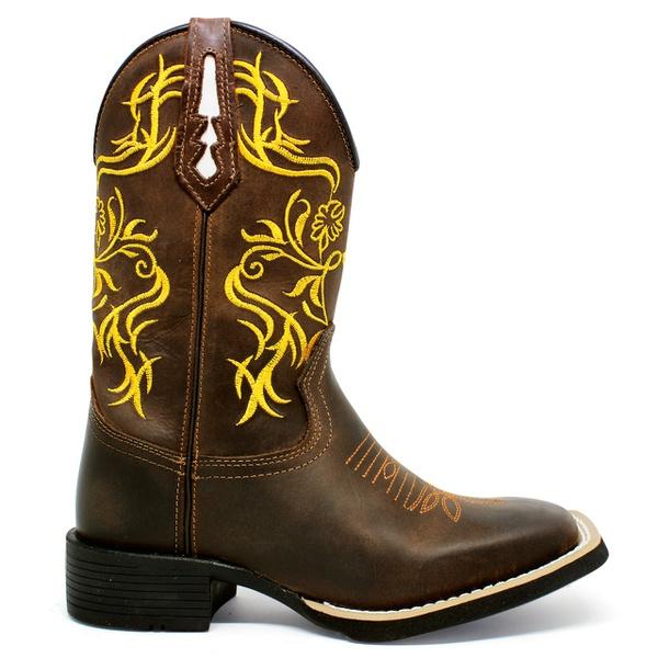 Bota Texana Feminina Marconi 7800 Crazy Horse Café