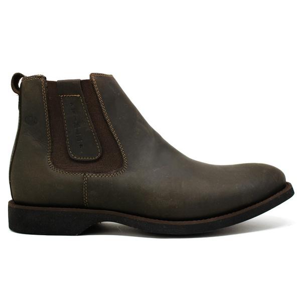 Botina Anatômica Masculina Vimar Boots 87012 Mustang Oil Brown