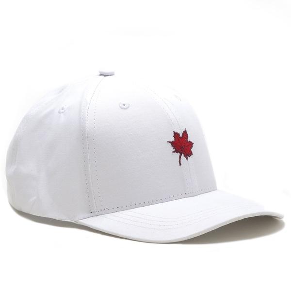 Boné Folha Canadian Branco/Vermelho