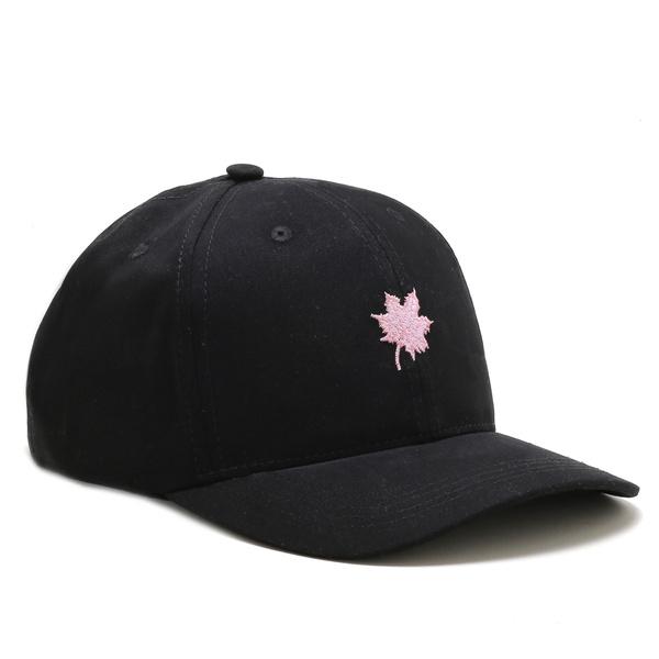 Boné Folha Canadian Preto/Rosa