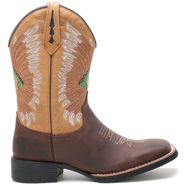 Bota Texana Masculina High Country 7766 Crazy Horse Havana