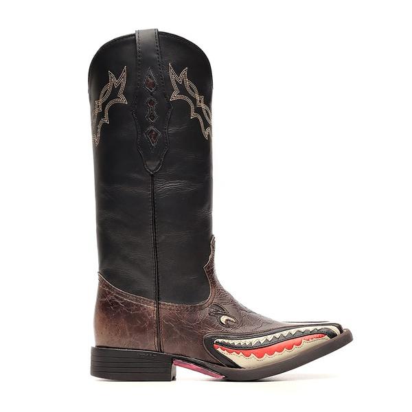 Bota Feminina Shark Western Vimar Boots 13140 Fóssil Brown