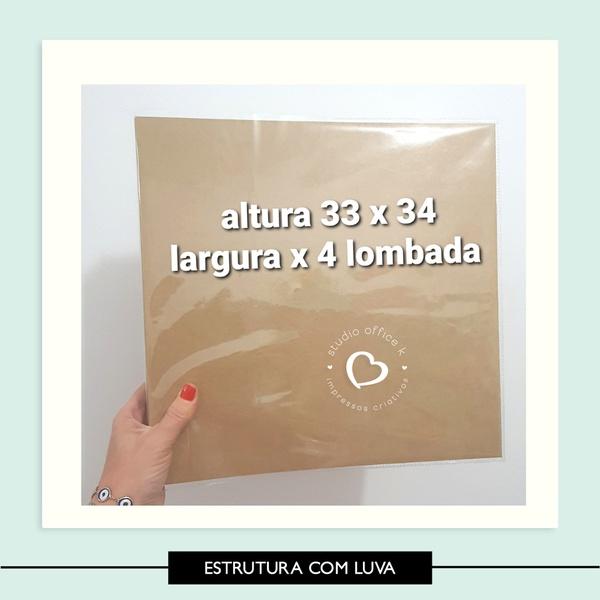 Capa Plástica - Álbum 33x34