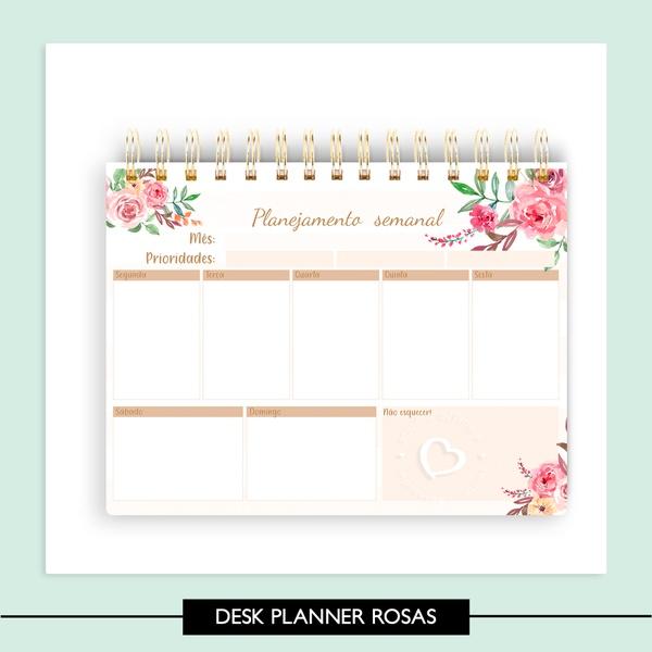 Desk Planner Rosas - A5