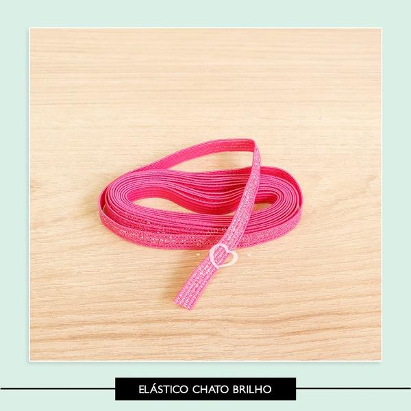 Elástico Chato Brilho - 7 mm
