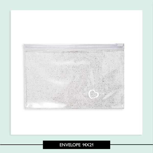 Envelope com Ziper 14x21