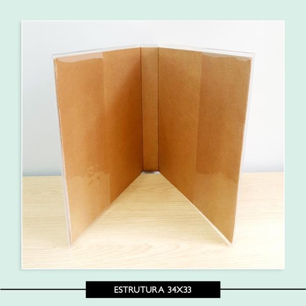 Estrutura álbum 33 x 34 cm