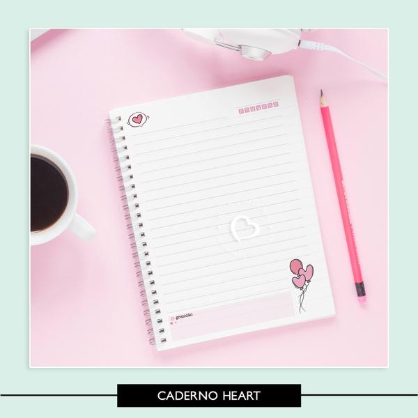 Miolo para Caderno - Heart