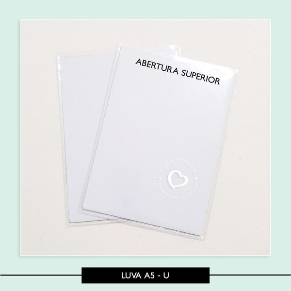 Luva Plástica A5 - Vertical - 22,5 x 16,5 cm