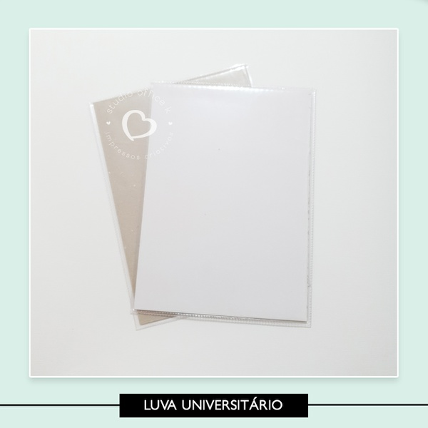 Luva Plástica Universitário - 28 5 x 20 5 cm
