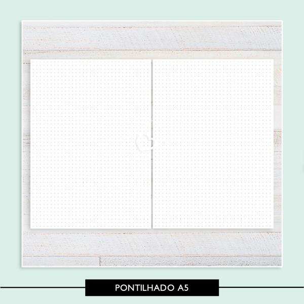 Miolo para Caderno - Pontilhado