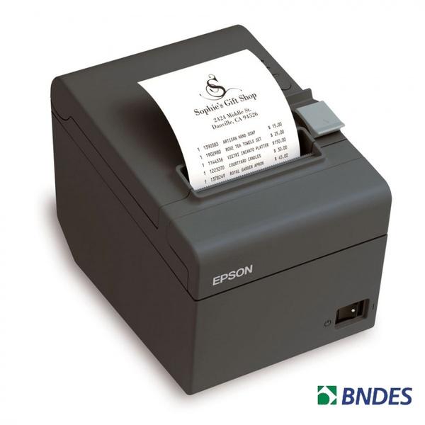 Impressora de Cupom Termica c/Guilhotina TM-T20 USB 76m (Não Fiscal) Grafite