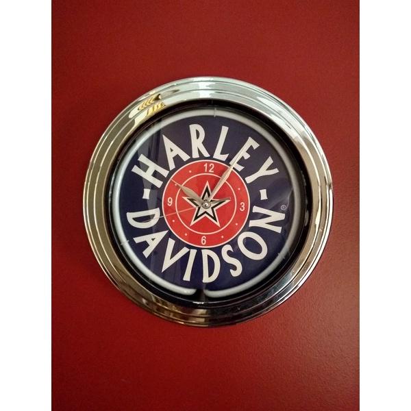 Relógio Luminária Harley Davidson Neon.