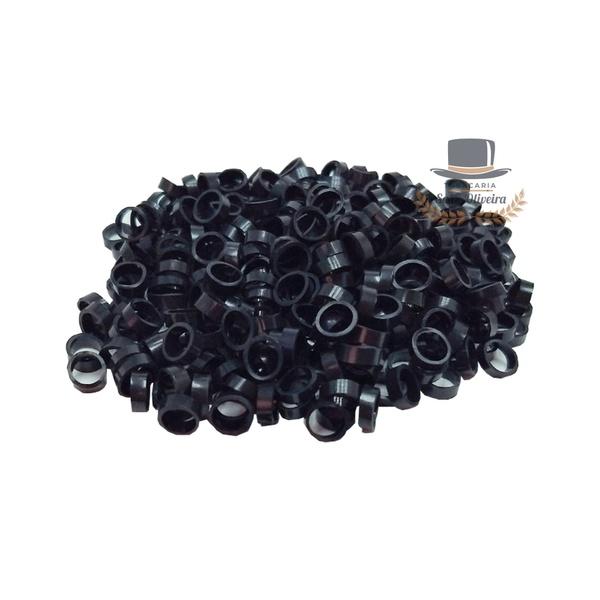 Argolinhas, Gominhas ou Canudinhos para Cigarro de Palha - 5,5mm - Preto