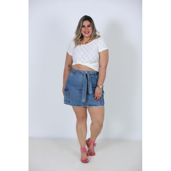 Saia jeans Júlia