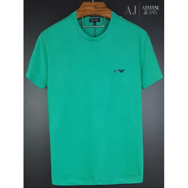 Camiseta Armani Verde Básica