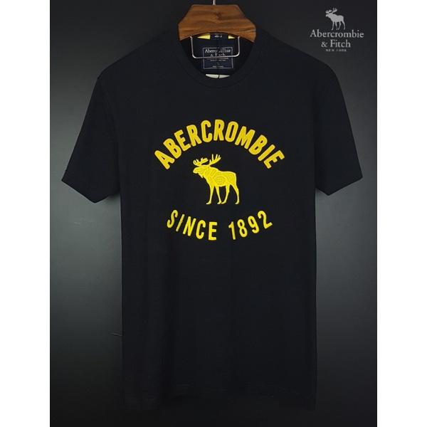 Camiseta Abercrombie Preto/Amarelo