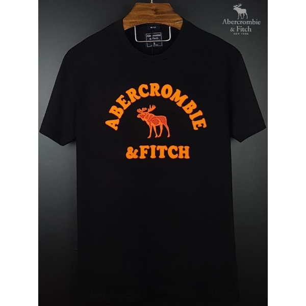 Camiseta Abercrombie Preta/Laranja