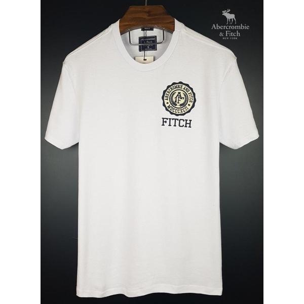 Camiseta Abercrombie Branca Simbolo redondo