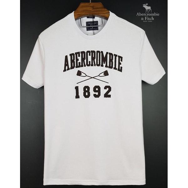 Camiseta Abercrombie Branca/Marron 1892