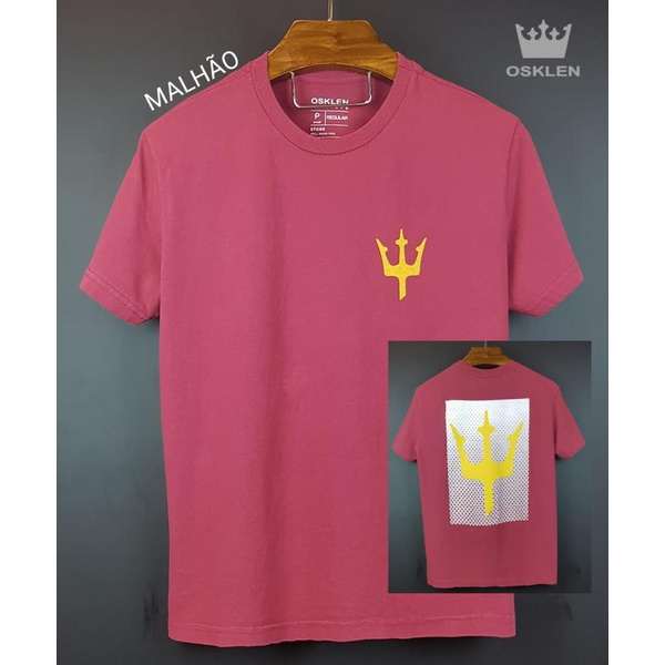 Camiseta Osk Vermelha simbolo amarelo