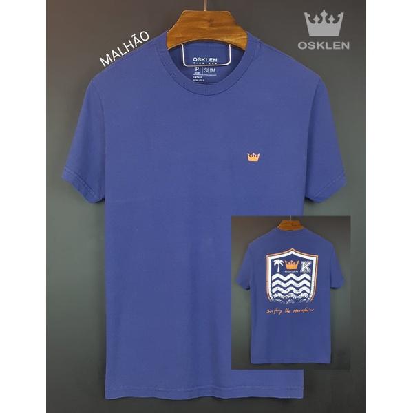 Camiseta Osk Azul royal simbolo laranja