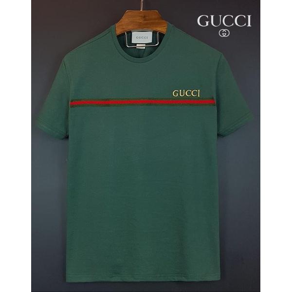 Camiseta Gucci Verde detalhe listra