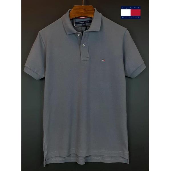 Camisa Gola Polo Tommy Cinza Corte diferente