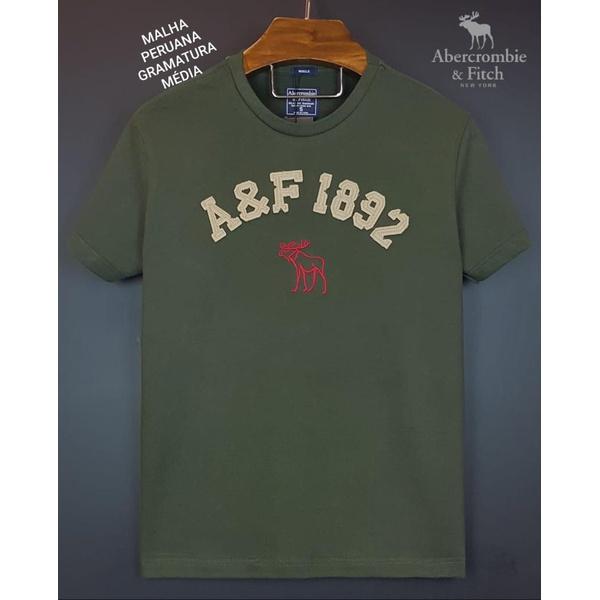 Camiseta Abercrombie AEF 1892 Verde Musgo