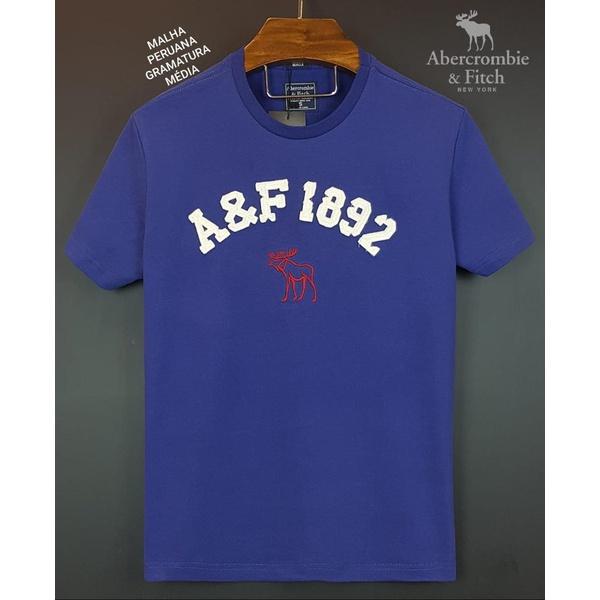 Camiseta Abercrombie AEF 1892 Azul Royal