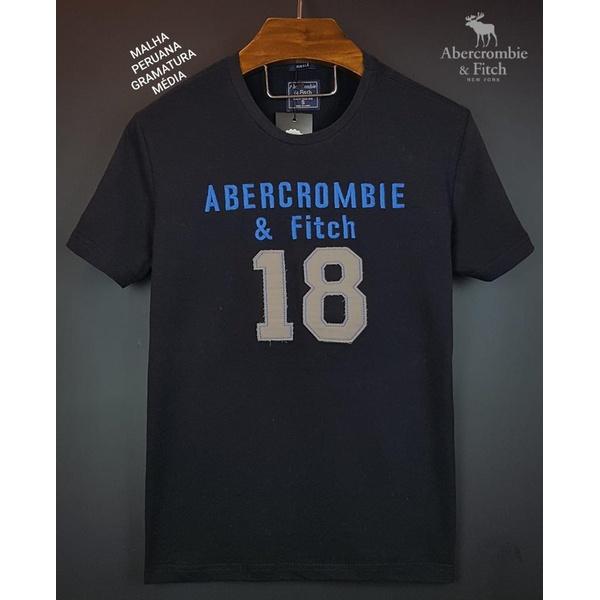 Camiseta Abercrombie 18 Preto/azul