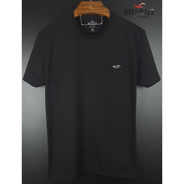 Camiseta Hollister preta básica