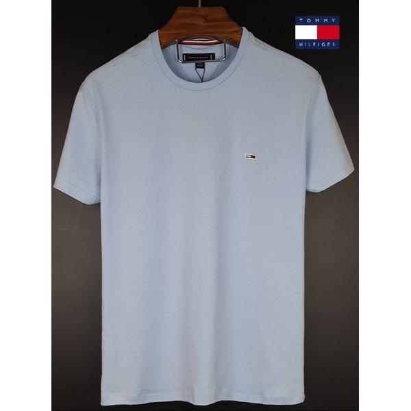 Camiseta Tommy Basica Azul claro