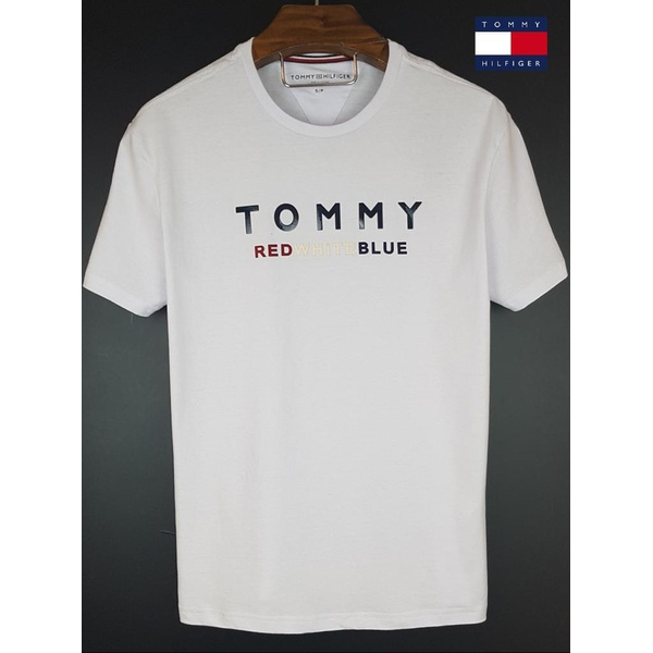 Camiseta Tommy Branca red white blue