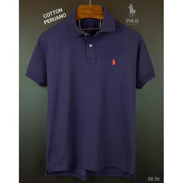 Camisa Gola Polo Cotton Peruana Roxa